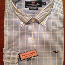 Nwt New Vineyard Vines Men's Whale Shirtarchboard Check Newport Blue Sz Small Photo