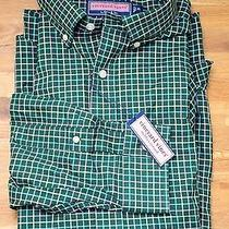 Nwt New Vineyard Vines Murray Shirt Lookout Check Green Blue Long Sleeve Shirt Photo
