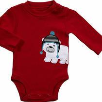 Nwt Newborn Carters Bodysuit Baby Boy Polar Bear Red Photo