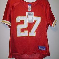 Nwt Nfl Reebok Kansas City Chiefs Football Larry Johnson Jersey Red Top Large  Photo