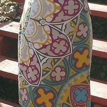 Nwt Nicole Miller Collection Silk Blend Skirt W/ Stain Glass Pattern Sz 4 - Sale Photo