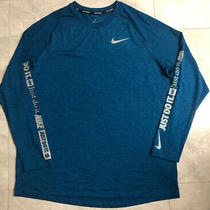 Nwt Nike Element Just Do It Long Sleeve Running Top - Xl (Aj6623-474) Reflective Photo