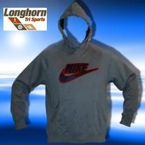Nwt Nike Hooded Stitched Logo Sweat Shirt Medium 50 Blue Hoody Photo