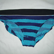 Nwt Nike Purple and Aqua Blue Stripes  Bikini Bottom Swim Wear Size 12 Photo