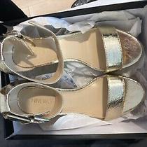 Nwt Nine West Gold Ankle Strap Sandal Photo