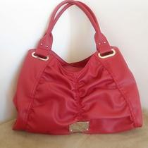 Nwt Nine West Hobo Gathered Shoulder Bag Merry Style Cherry Red Mm Msrp 79 Photo