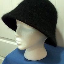 Nwt Nine West Women's Black Metallic Cloche Winter Hat - Rabbit/wool Blend Osfa Photo