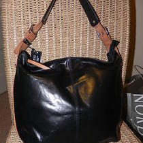 Nwt Nino Bossi Italian Black Lambskin Leather Large Hobo Handbag 299 Gorgeous Photo