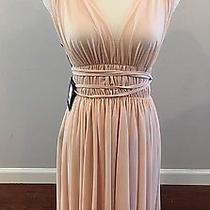 Nwt Norma Kamali Goddess Asymmetrical Dress Odessa Blush Pink Nude Size S Photo