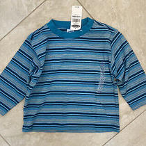 Nwt Old Navy Blue Yellow Striped Long Sleeve T-Shirt Baby Size 18-24 Months Photo