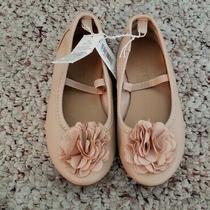 Nwt Old Navy Girls Blush Pink Rosette Flower Ballet Flat Slip on Shoes Sz 8 C Photo