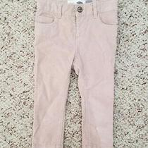 Nwt Old Navy Girls Blush Pink Skinny Pull on Corduroy Pants Sz 18-24m Photo