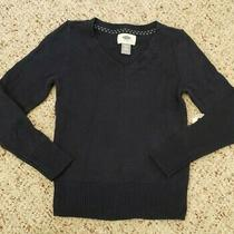 Nwt Old Navy Girls Navy Blue Long Sleeve v-Neck Pullover Sweater Sz Xs 5 Photo
