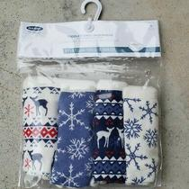 Nwt Old Navy Girls Pack of 4 Blue White Deer & Snowflakes Underwear Briefs 2t-3t Photo