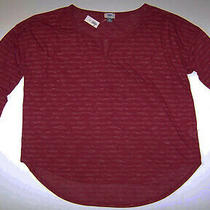 Nwt Old Navy Maternity Split Neck Long Sleeve Reddy Steady Tee Shirt Size Xl Photo