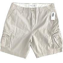Nwt Old Navy Men Cargo Khaki Shorts Lived in Straight Brown Size 40 Photo