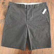 Nwt Old Navy Men Khaki Shorts Ultimate Slim Dark Brown Size 40 Photo
