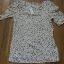 Nwt Old Navy Short-Sleeve Tan Polka Dot Dress Top Size Medium Photo