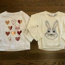 Nwt Old Navy Tcp Valentine's Day Easter Bunny Sweaters Girls Size 2t Lot of 2 Photo