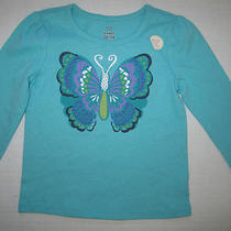 Nwt Old Navy Toddler Girls Aqua Blue 3d Butterfly Shirt Size 18 24 Months New Photo