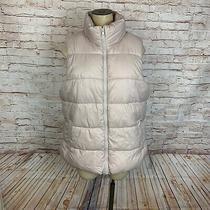 Nwt Old Navy Womens Size L Puffer Vest Blush Pink Fleece Lined Photo