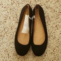 Nwt Old Navy Womens Solid Black Faux Suede Flat Slip on Casual Dress Shoes Sz 7 Photo