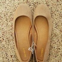 Nwt Old Navy Womens Solid Tan Faux Suede Flat Slip on Casual Dress Shoes Sz 7 Photo