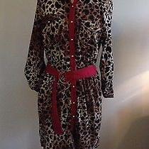Nwt Olive and Oak Medium Dress Leopard Animal Print Photo