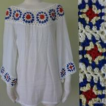 Nwt Oliver Anthropologie Gypsy People Crochet Free Spirit Tunic Top Size L Photo