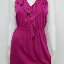 Nwt Oonagh by Nanette Lepore M Medium Dress Ruffle Neck Low Back Halter 148 Photo