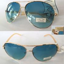 Nwt Oscar De La Renta Unisex Sunglasses 3076 Gold/blue Photo