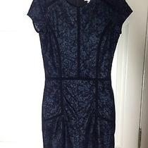 Nwt Parker Blue Black Short-Sleeved Mini Dress Club Formal M Medium S 4 Small Photo