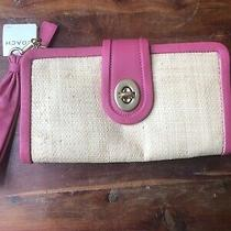 Nwt Parker Coach Clutch Pink Turn Lock Closure Photo