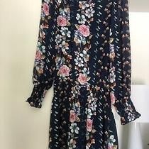 Nwt Parker Floral Dress Size Xs Navy Meadow Photo