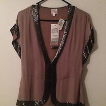 Nwt Parker Sequined Short Sleeve Cardigan Size Medium Never Worn Photo
