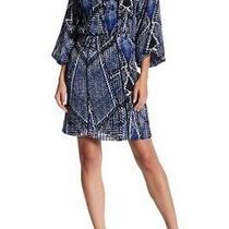 Nwt Parker Split Vneck Front Tie Print Dress Oceanica P6h2950pgp Large 298 Photo
