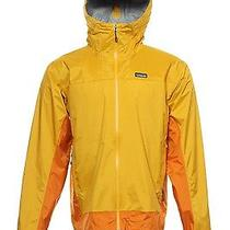 Nwt Patagonia Bright Yellow Color Block Rain Jacket 2xl 189 Photo