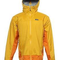 Nwt Patagonia Bright Yellow Color Block Rain Jacket 2xl 189 Photo
