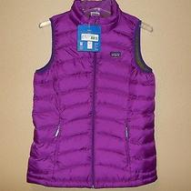 Nwt Patagonia Kids Girls' Ikat Purple  600-Fill Down Sweater Vest New Xxl /16-18 Photo