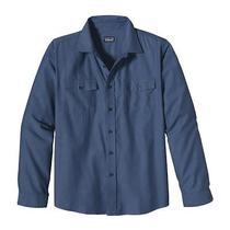 Nwt Patagonia Men's Long-Sleeved Buckshot Button Up Shirt Xl - Blue Photo
