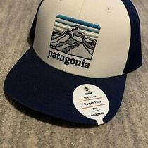 Nwt Patagonia Mid Crown Line Logo Ridge Roger That Hat Cap White Classic Navy Photo