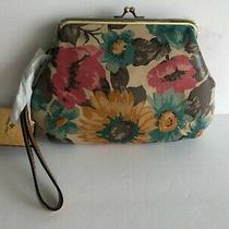 Nwt Patricia Nash Savena First Bloom Leather Floral Clutch Wristlet Bag Photo