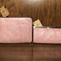 Nwt-Patricia Nash-Set-Blush Pink Tooled Cauchy Wallet & Cassini Wristlet-198  Photo