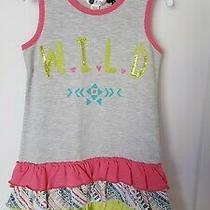 Nwt Petit Lem Little Girls Printed Ruffle Dress Size 6 Photo