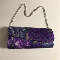 Nwt Pineda Covalin Blush Purple Floral Clutch Handbag Photo