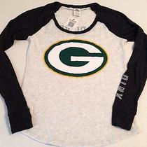 Nwt Pink by Victoria's Secret Green Bay Packers Shirt Size Small 36.50 Photo