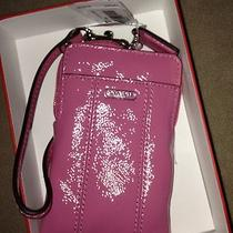 Nwt Pink Patent Leather Universal Case Wristlet Photo
