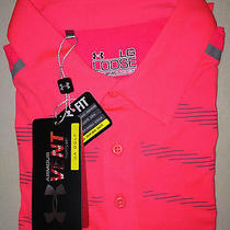 Nwt Pink Under Armour Loose Heat Gear Pebble Beach Golf Club Polo Shirt Large Lg Photo