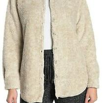 Nwt Pj Salvage 78 Oatmeal/tan Furry Fleece Hi-Low Shirt Top Jacket L Cozywarm Photo