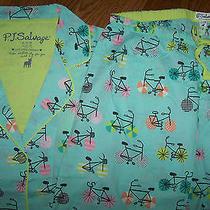 Nwt Pj Salvage Aqua Blue Pajama Top/pants Bag Set Pink/brown Bikes L Cotton Azul Photo